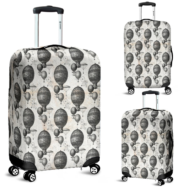 Vintage Hot Air Balloon Steampunk Luggage Cover - STUDIO 11 COUTURE