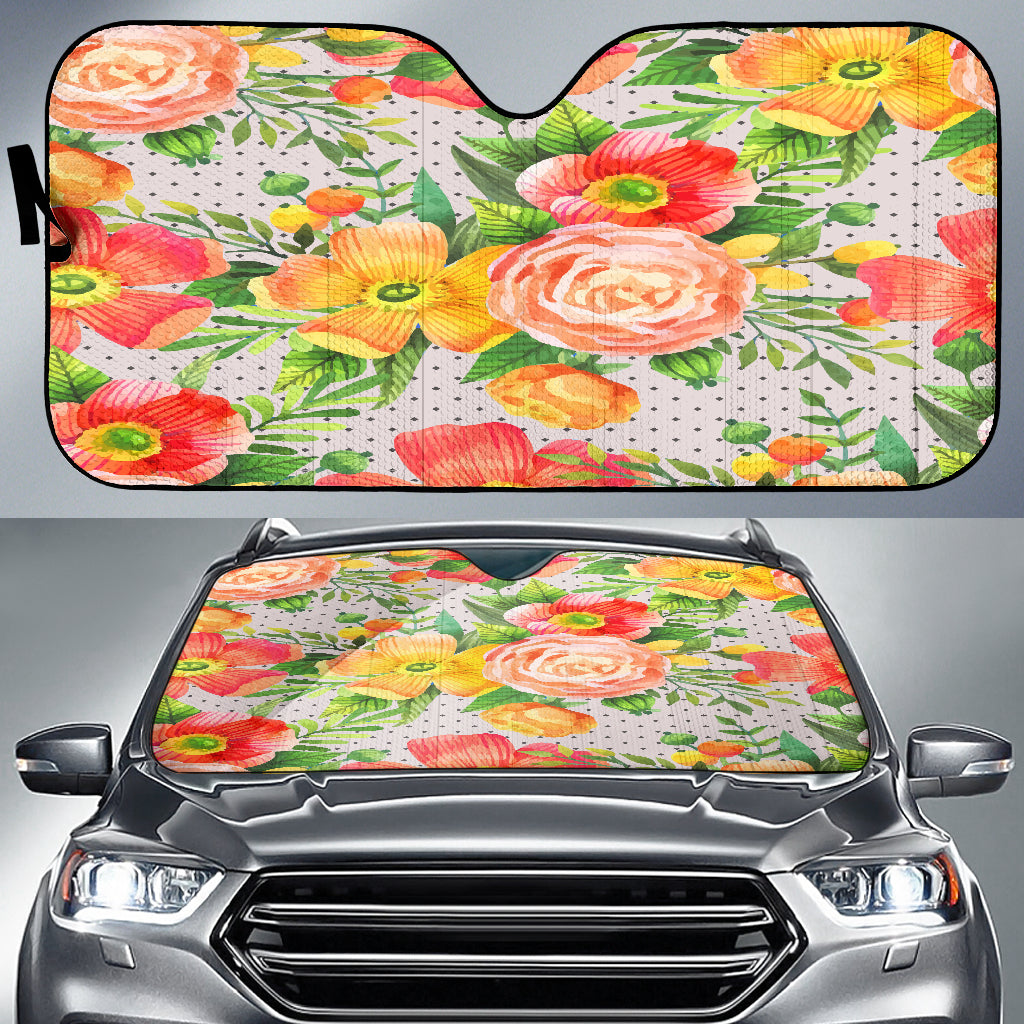 Beautiful Floral Spring Auto Sun Shades