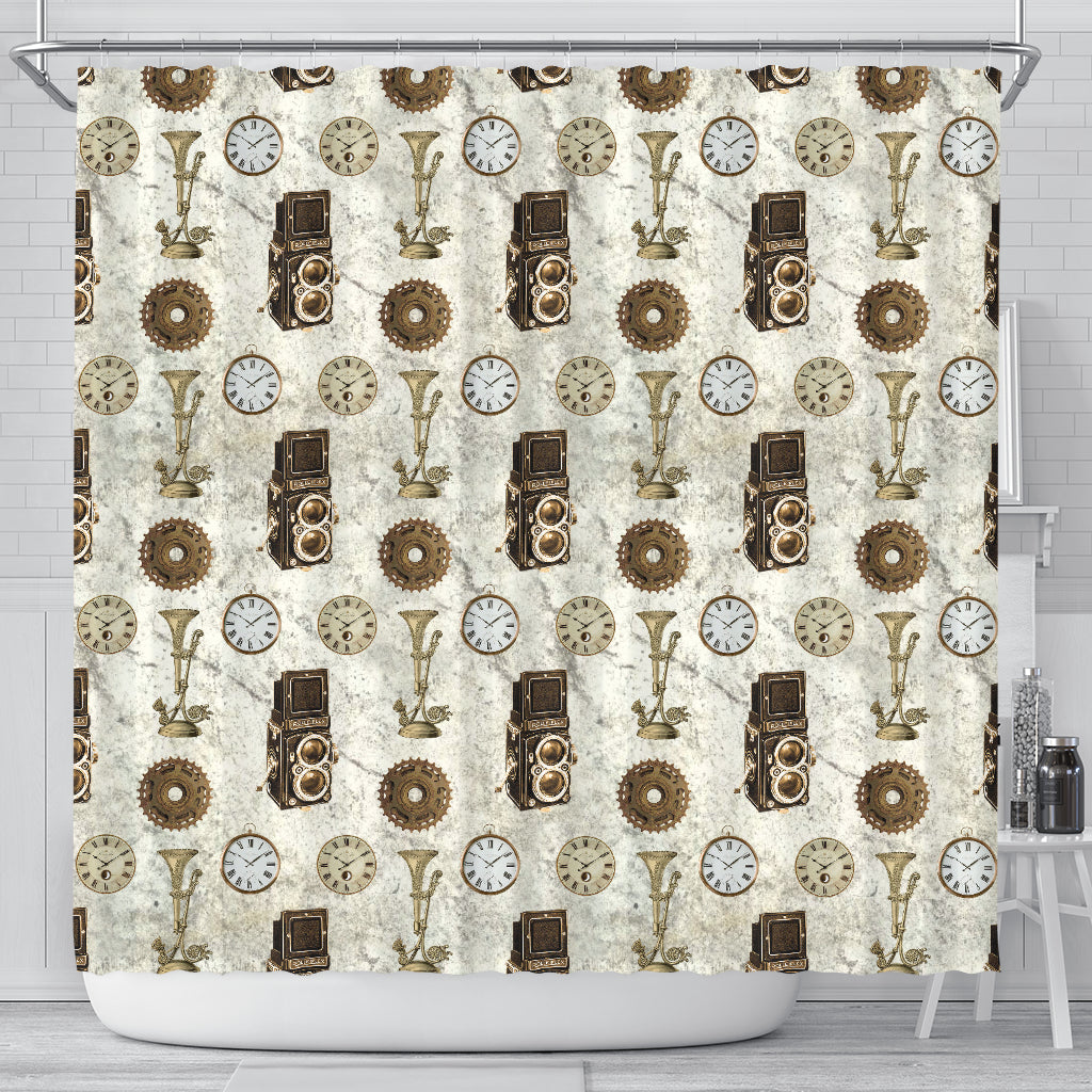 Steampunk 1 Shower Curtain - STUDIO 11 COUTURE