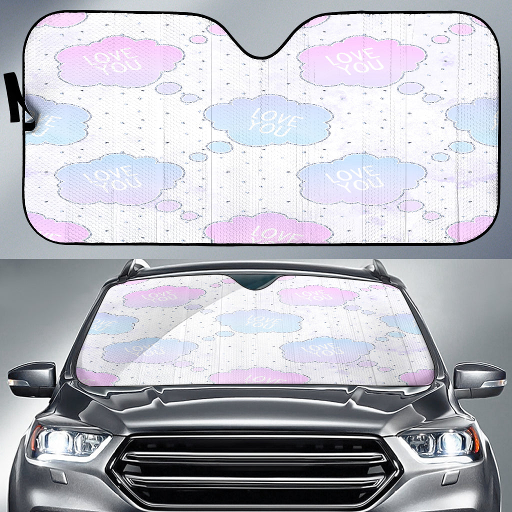 Unicorn Love You Clouds Auto Sun Shades
