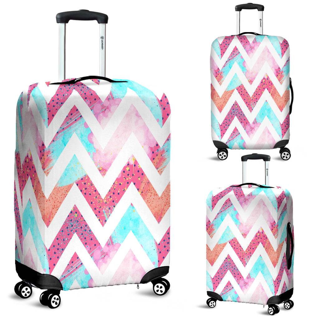 80s Fashion Girl 1 Luggage Cover - STUDIO 11 COUTURE