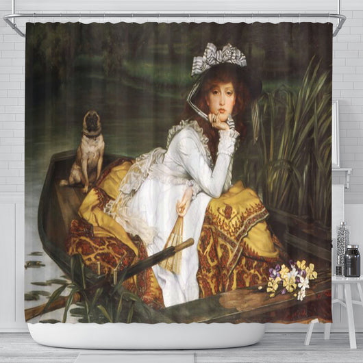 James Tissot Young Lady In A Boat Shower Curtain