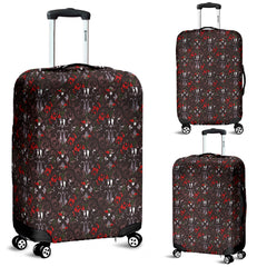 Gothic Lolita Damask Luggage Cover - STUDIO 11 COUTURE