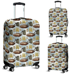 Vintage Zeppelin Steampunk Luggage Cover - STUDIO 11 COUTURE