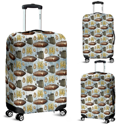 Vintage Zeppelin Steampunk Luggage Cover
