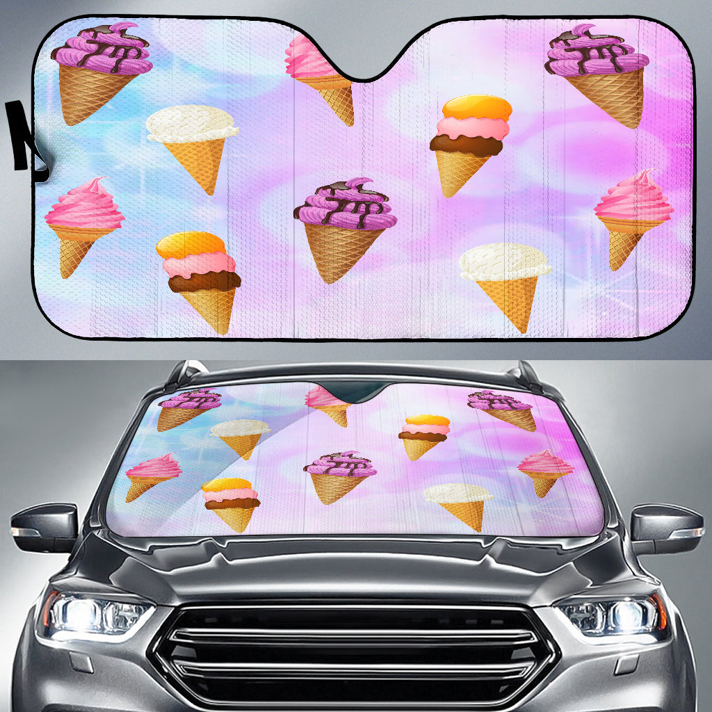 Ice Cream Auto Sun Shades