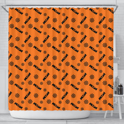 Black Candy Spooky Halloween Shower Curtain
