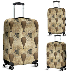 Old Hot Air Balloon Steampunk Luggage Cover