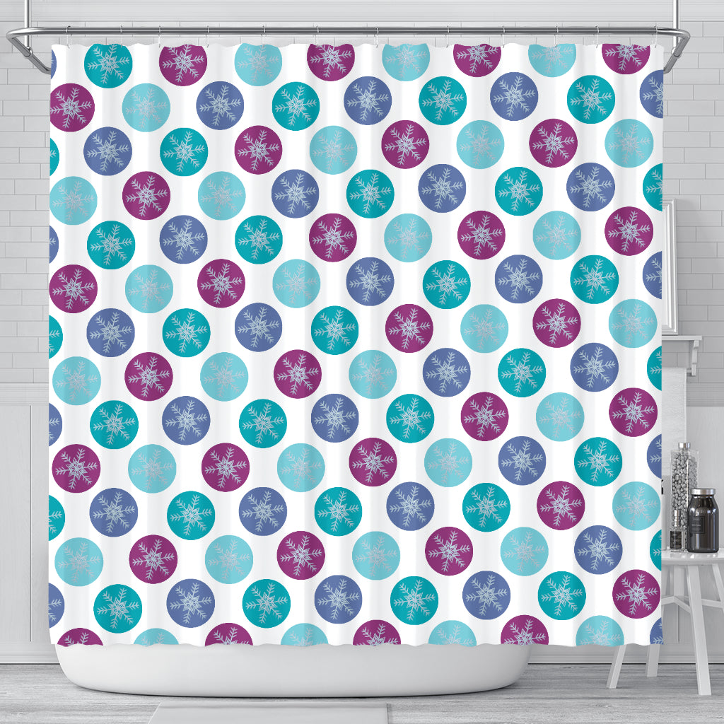 Frozen Snow Flakes Shower Curtain - STUDIO 11 COUTURE