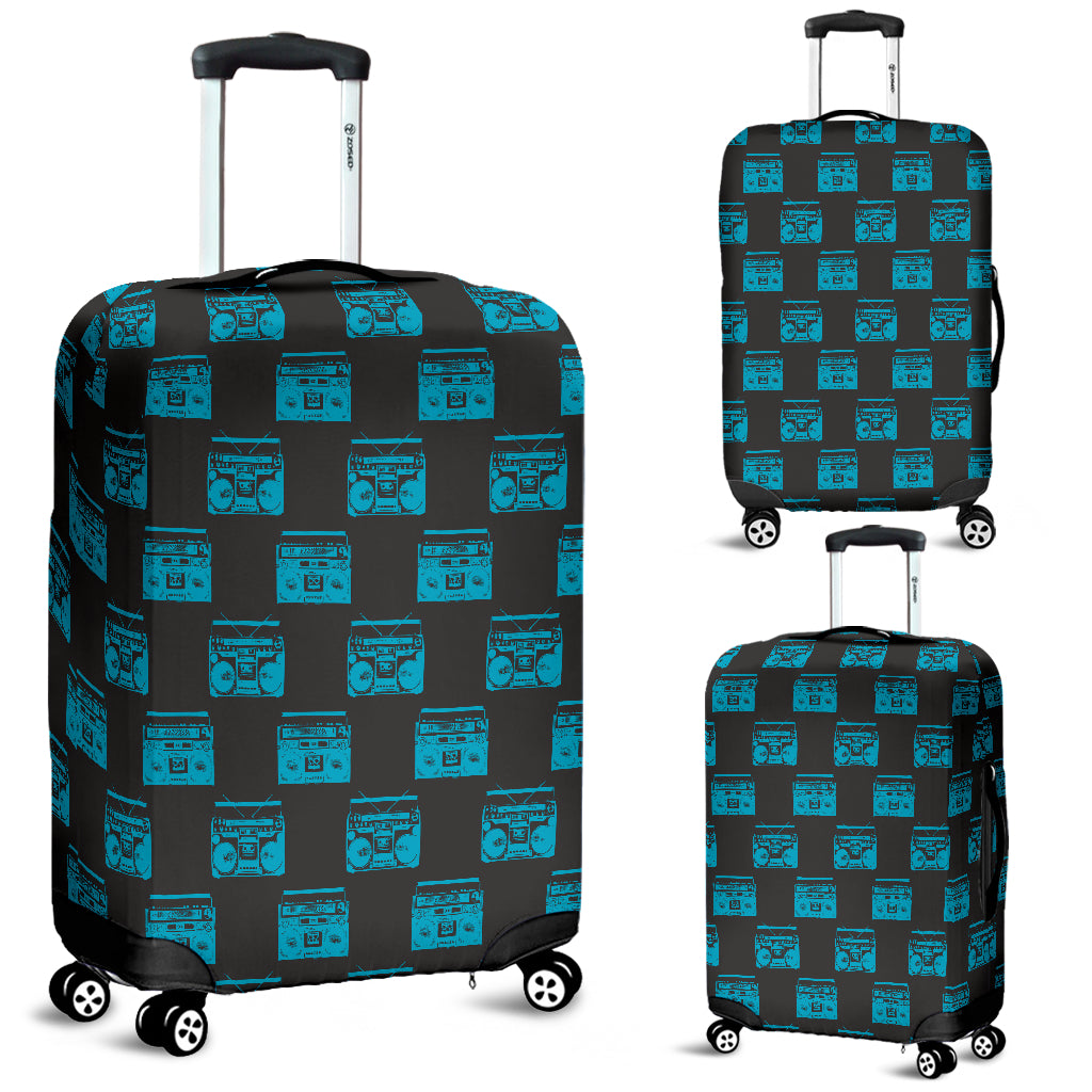 80s Boombox 7 Luggage Cover - STUDIO 11 COUTURE