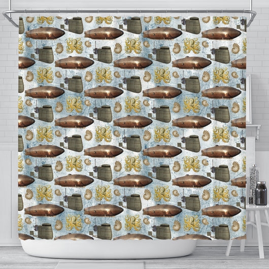 Steampunk 7 Shower Curtain - STUDIO 11 COUTURE