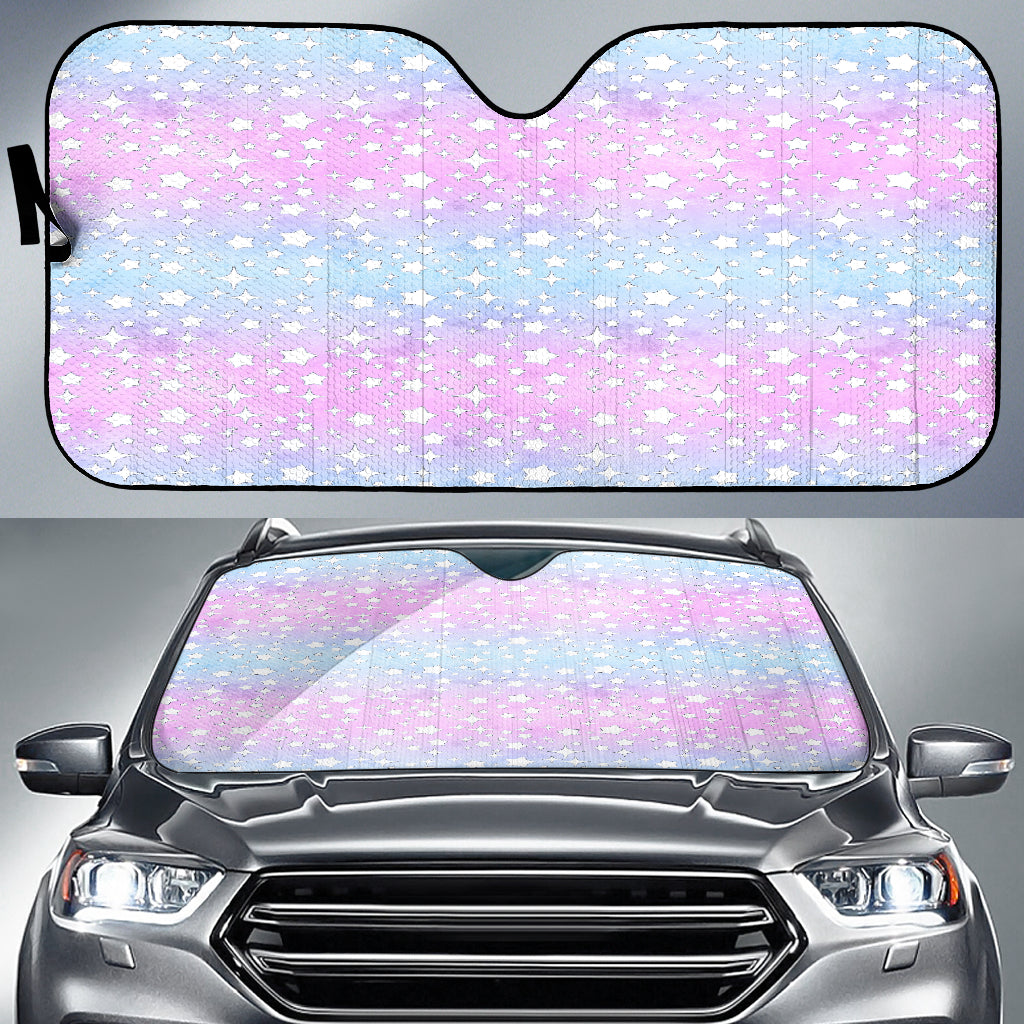 Unicorn Starry Night Pastel Auto Sun Shades