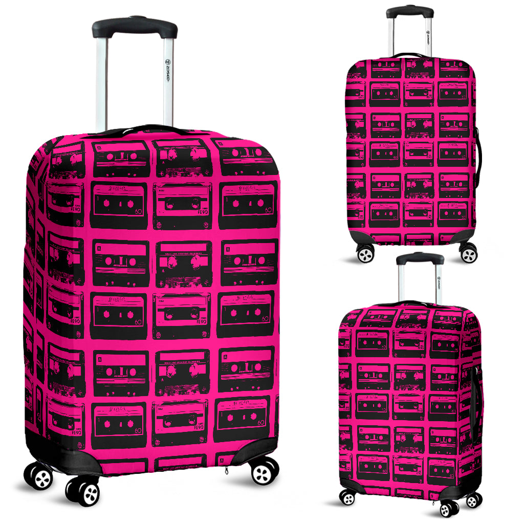 80s Boombox 1 Luggage Cover - STUDIO 11 COUTURE