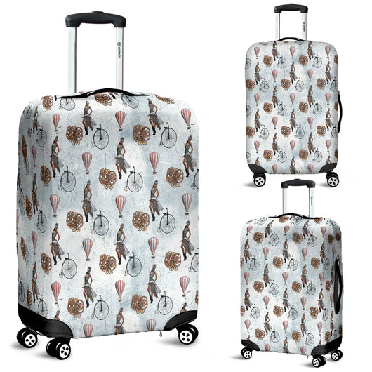 Vintage Bike Steampunk Luggage Cover - STUDIO 11 COUTURE