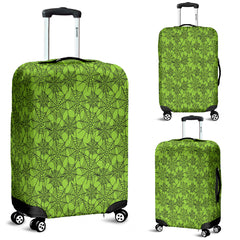 Green Spider Web Halloween Luggage Cover - STUDIO 11 COUTURE