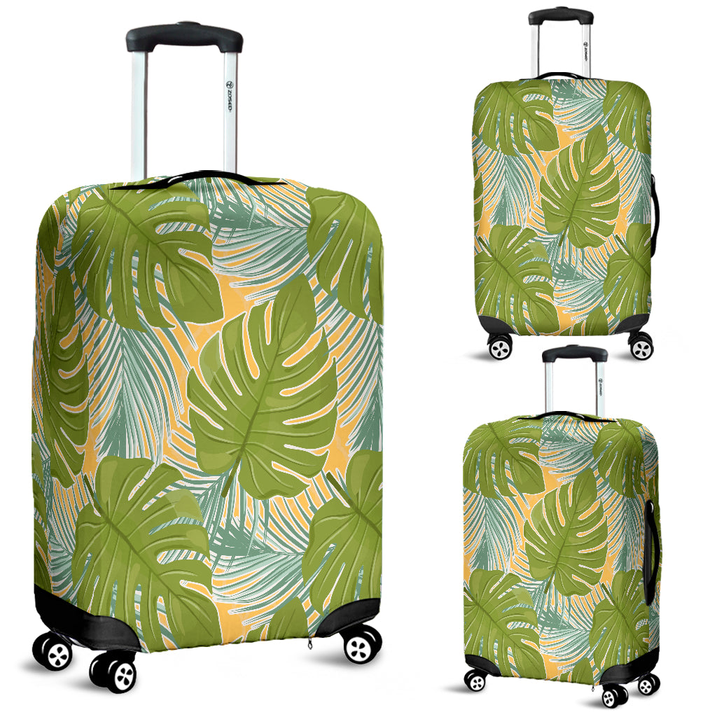 Tropical Palm Leaves Luggage Cover - STUDIO 11 COUTURE