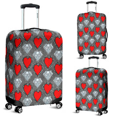 Hearts and Diamonds Luggage Cover
