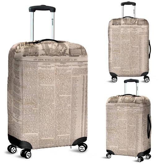 Old Newspaper Ann Arbor Luggage Cover