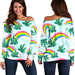 Women Teen Off Shoulder Sweater Wizard Of OZ 1-11