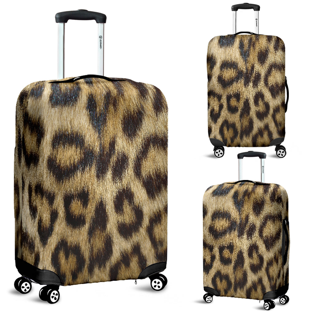 Leopard Skin Luggage Cover - STUDIO 11 COUTURE