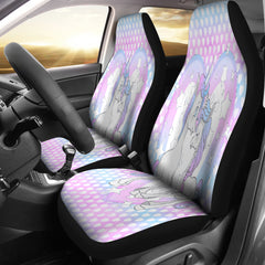 Unicorn In Love Hombre Hearts Car Seat Covers