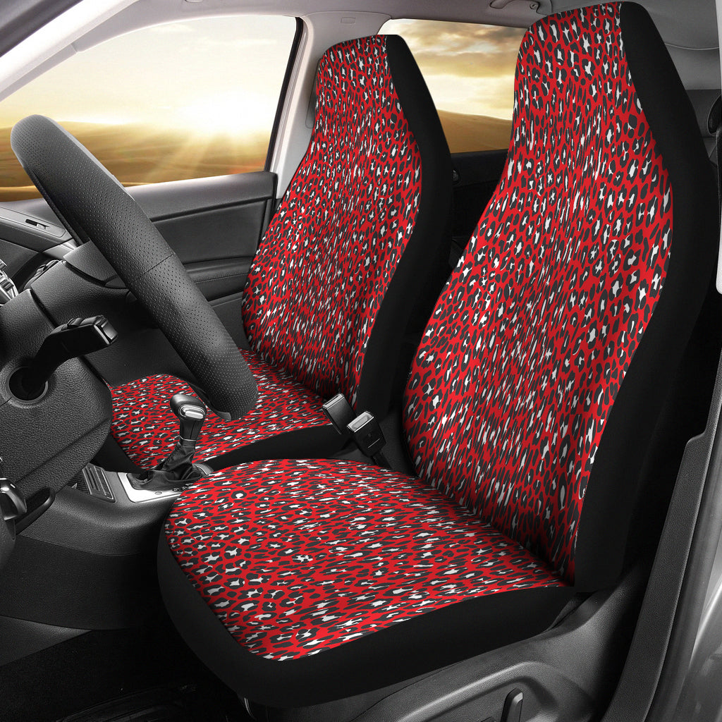 Leopard Print Car Seat Covers