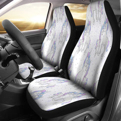 Unicorn In Love 4 Car Seat Covers
