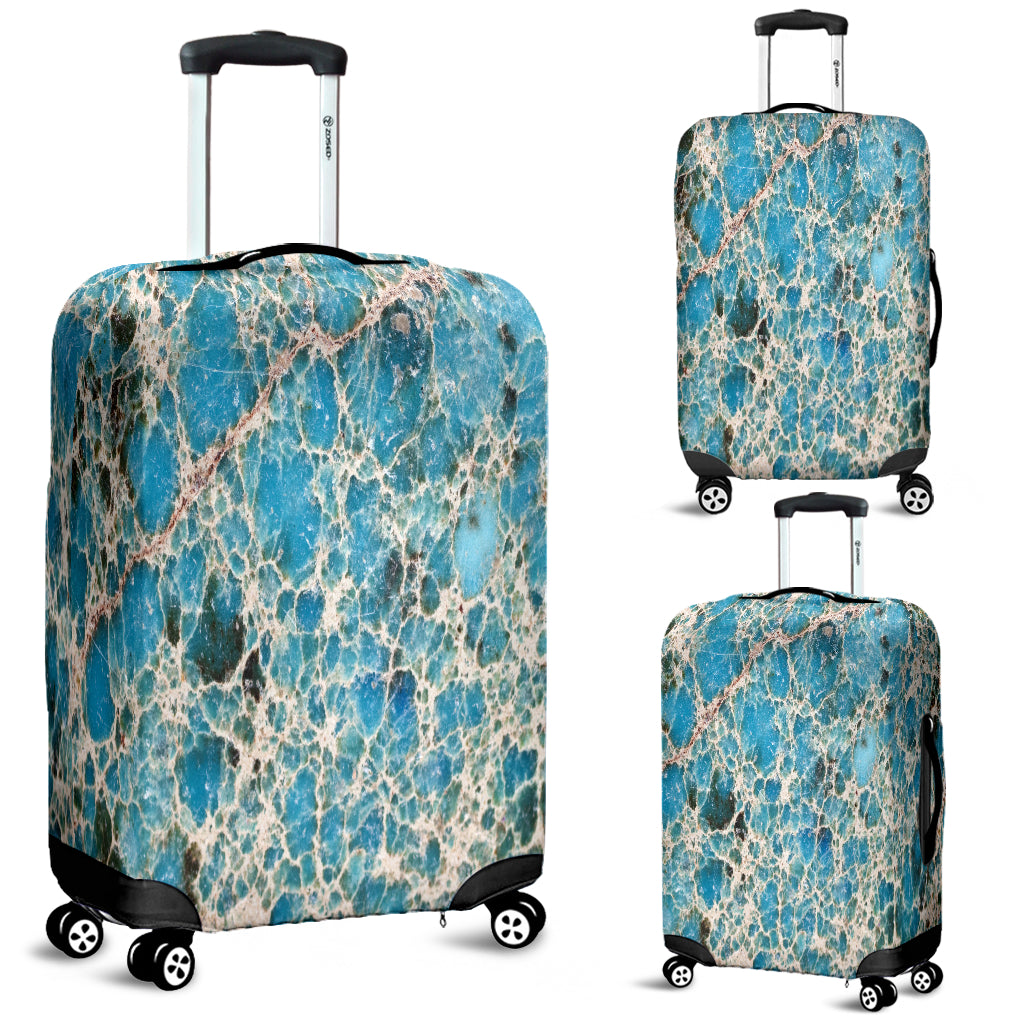 Dirty Cracked Marble Tile Luggage Cover