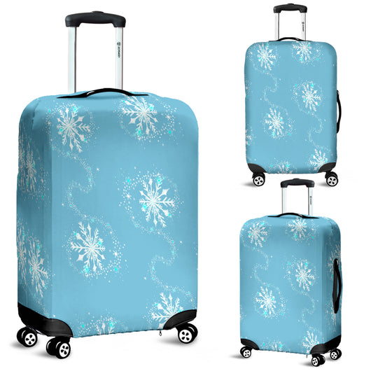 Frozen Flurry Luggage Cover