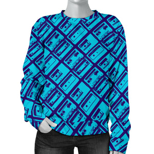 Custom Made Printed Designs Women's Sweater 80's Boombox 11