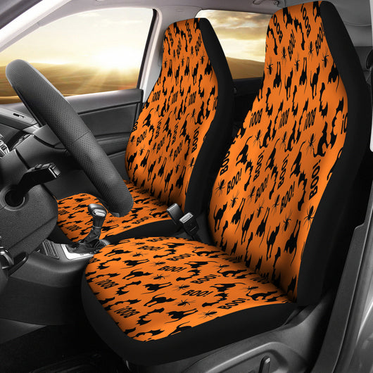 Trick or Treat Cat Boo Car Seat Covers