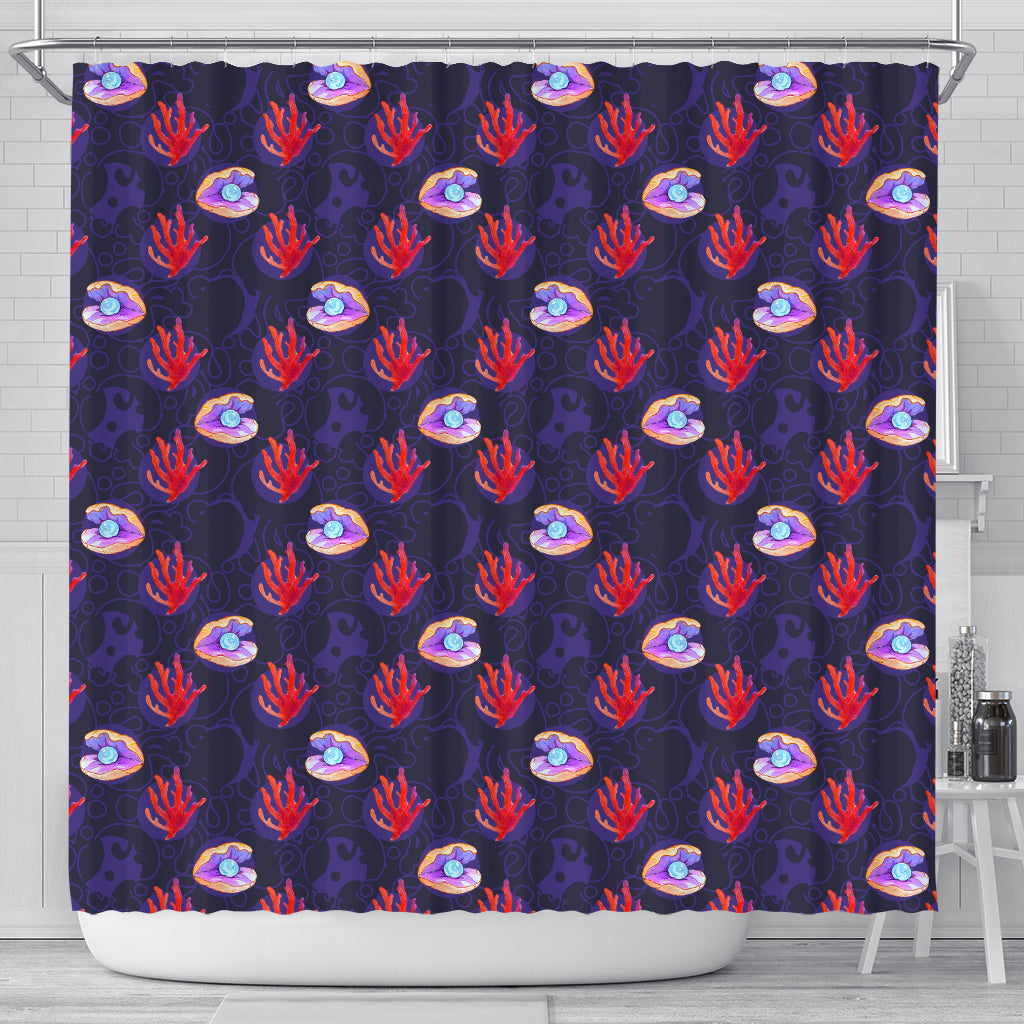Clam Pearl Shower Curtain