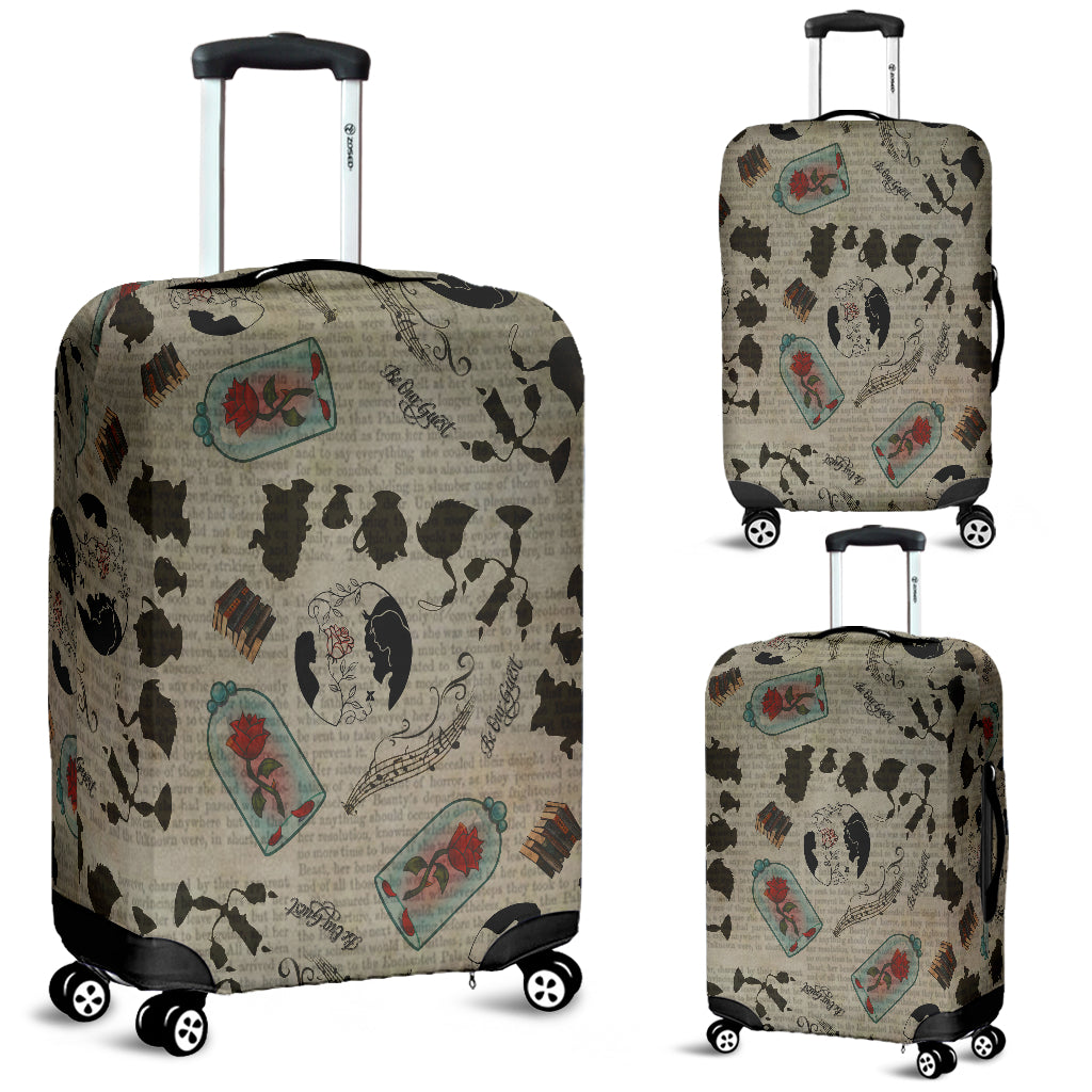 Beauty And Beast Luggage Cover