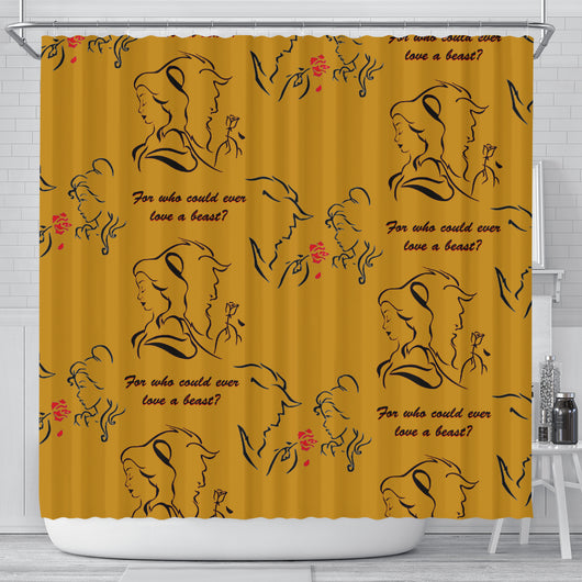 Beauty And The Beast Love Shower Curtain - STUDIO 11 COUTURE
