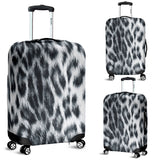Snow Leopard Skin Luggage Cover