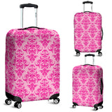 Pink Damask Luggage Cover - STUDIO 11 COUTURE