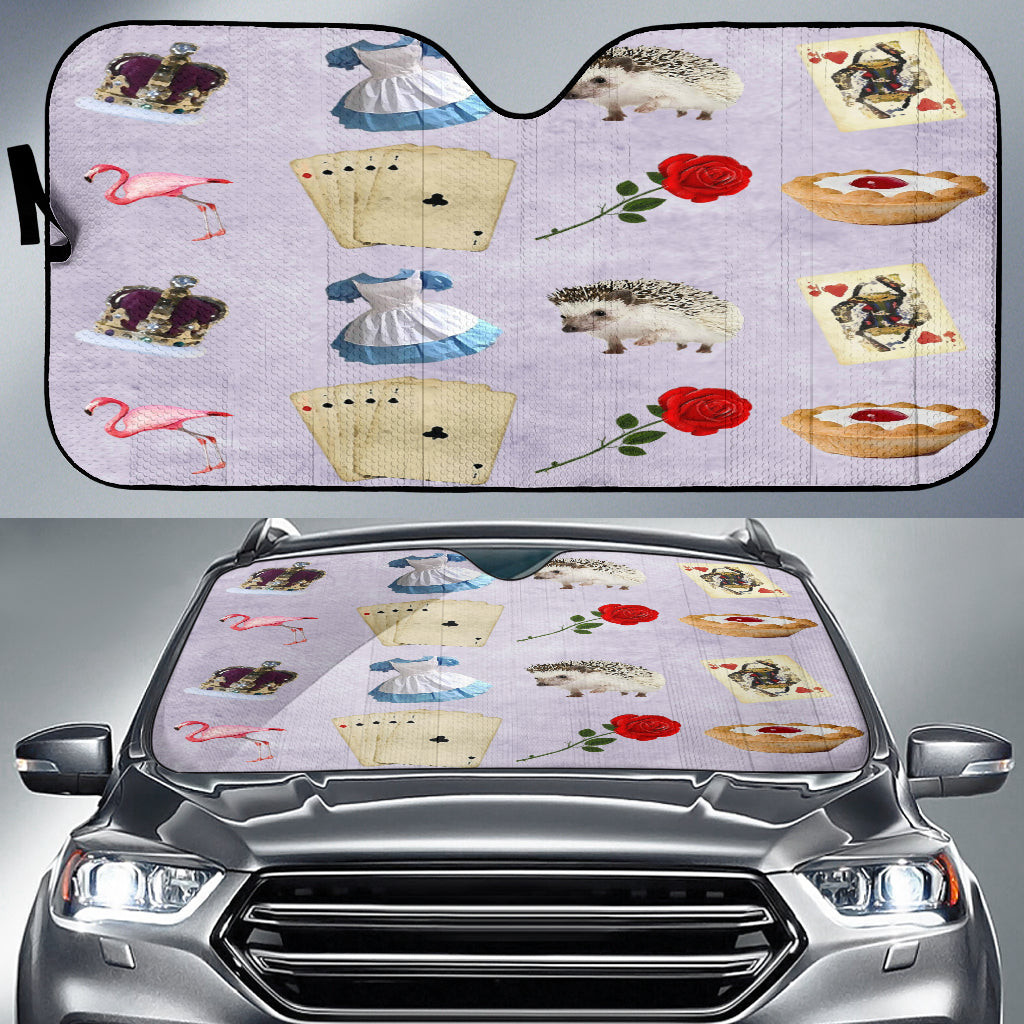 Cards And Roses Alice In Wonderland Auto Sun Shades