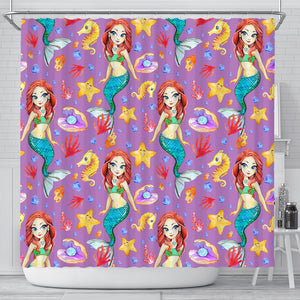 Mermaid 1 Shower Curtain - STUDIO 11 COUTURE
