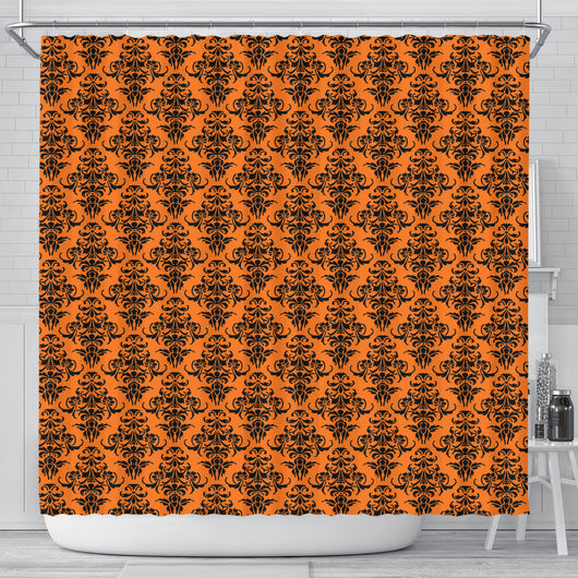 Damask Halloween Gothic Shower Curtain