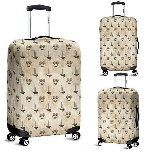 Flying Ship Steampunk Luggage Cover - STUDIO 11 COUTURE