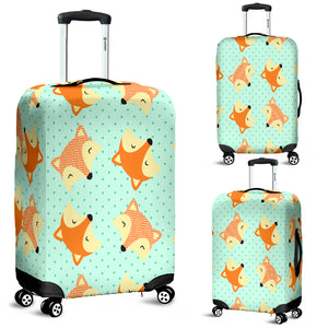 Cute Fox 3 Luggage Cover