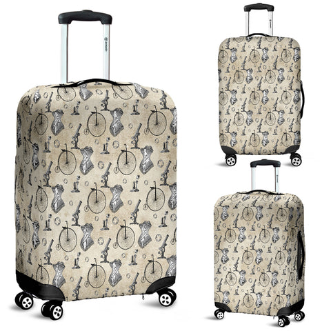 Mechanical Vintage Bike Steampunk Luggage Cover