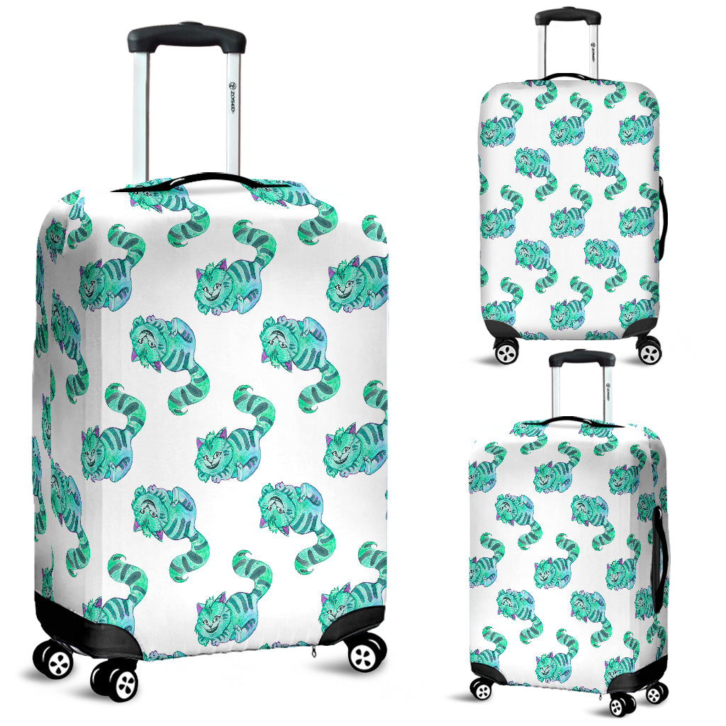 Green Cheshire Cat Alice In Wonderland Luggage Cover - STUDIO 11 COUTURE