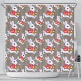 Hurry Up White Rabbit Alice In Wonderland Shower Curtain - STUDIO 11 COUTURE