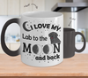 Image of Color Changing Mug Dog Theme I Love My Lab To The Moon And Back