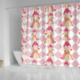 Large Queen Of Heart Alice In Wonderland Shower Curtain - STUDIO 11 COUTURE