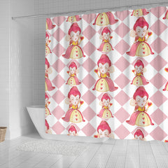 Large Queen Of Heart Alice In Wonderland Shower Curtain