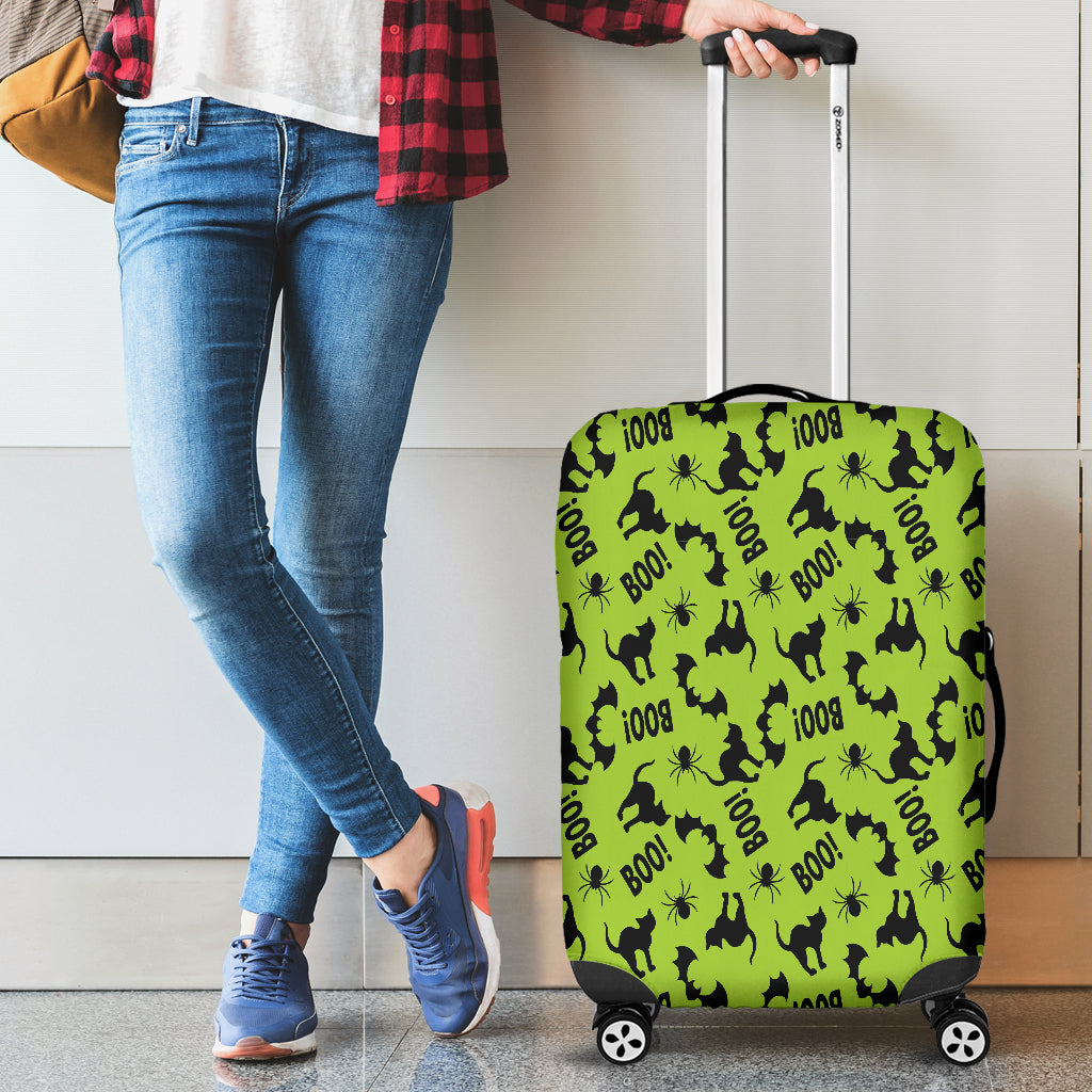 Black Cat Halloween Gothic Luggage Cover