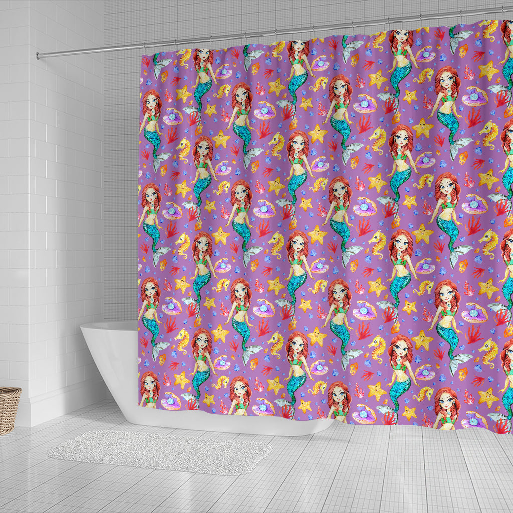 Mermaid 4 Shower Curtain - STUDIO 11 COUTURE