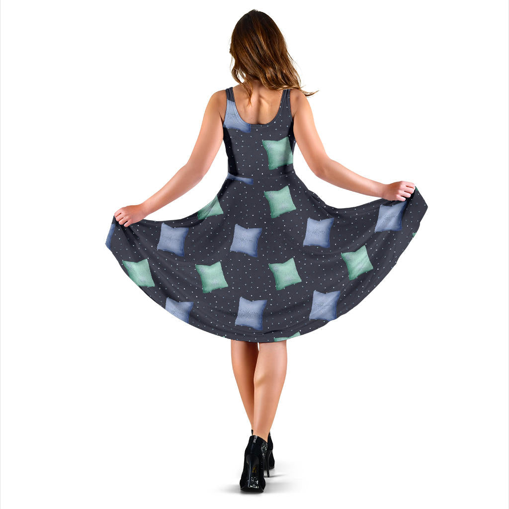 Women's Dress, No Sleeves, Custom Dress, Midi Dress, Christmas 1-01